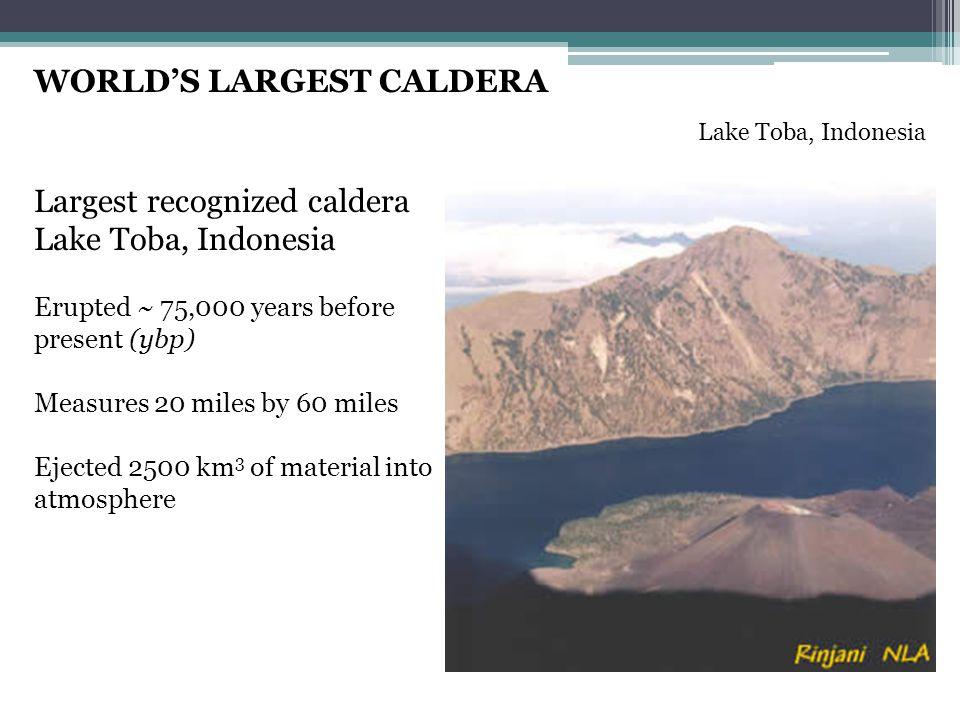 WORLD'S LARGEST CALDERA