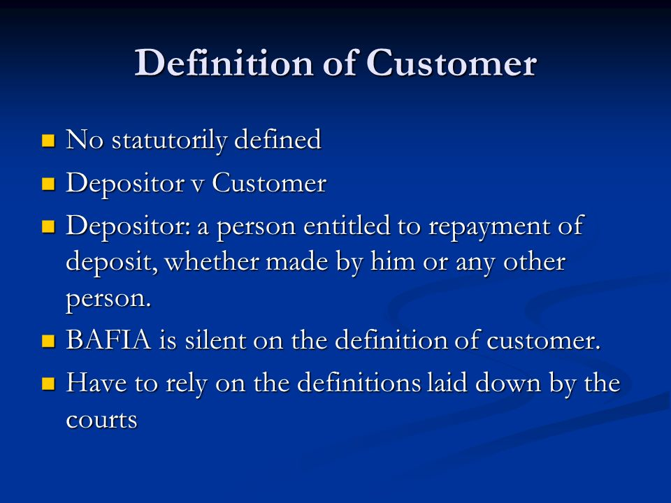 Customer relation meaning