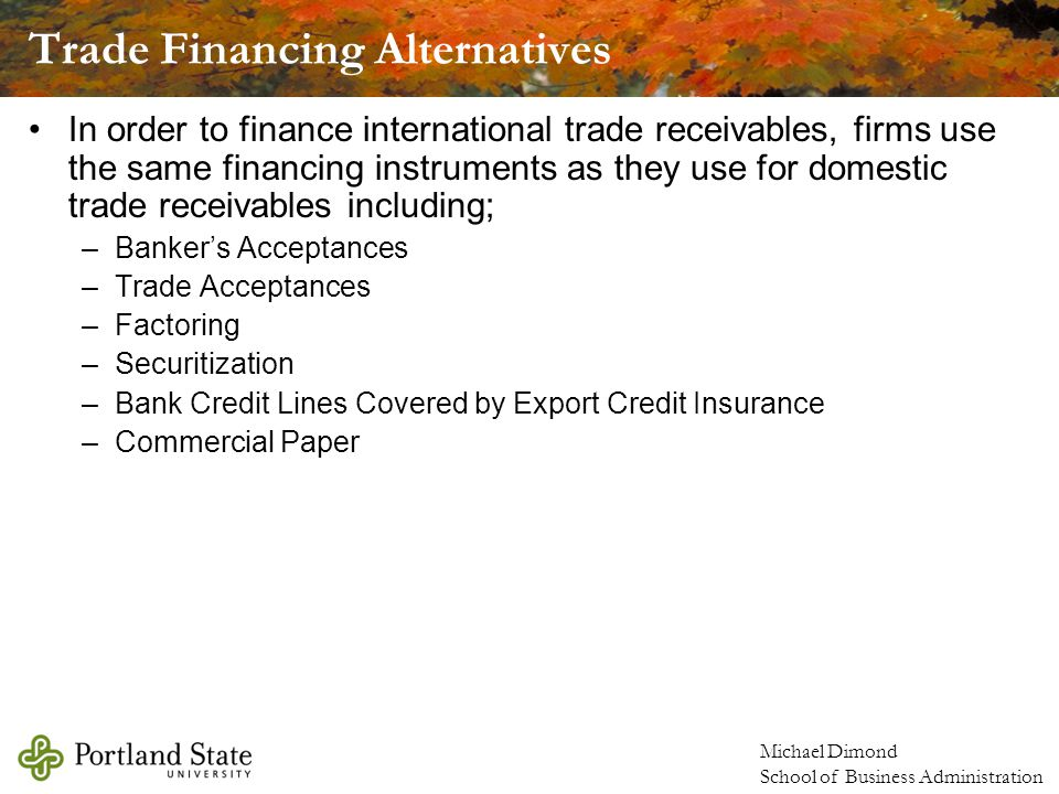 Trade Financing Alternatives