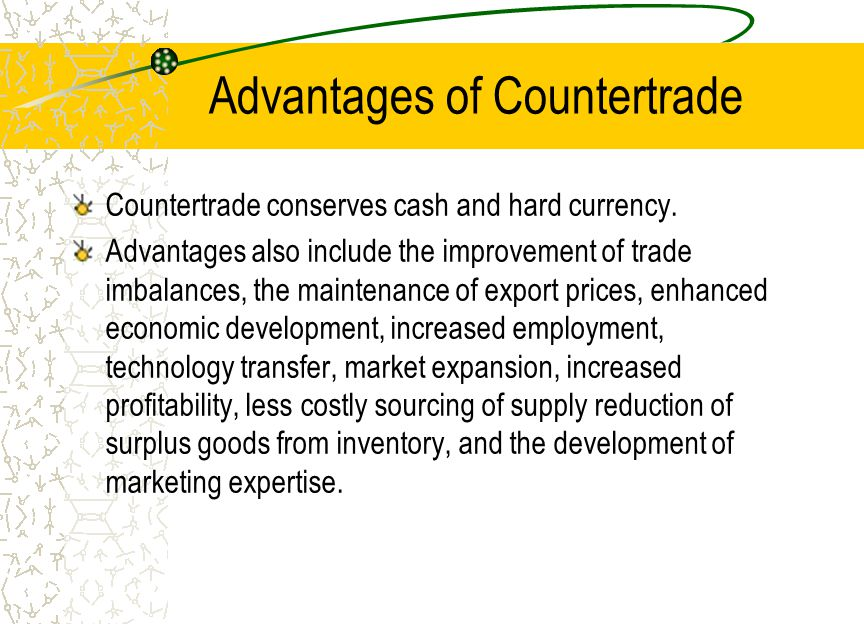 Generalizations about Countertrade