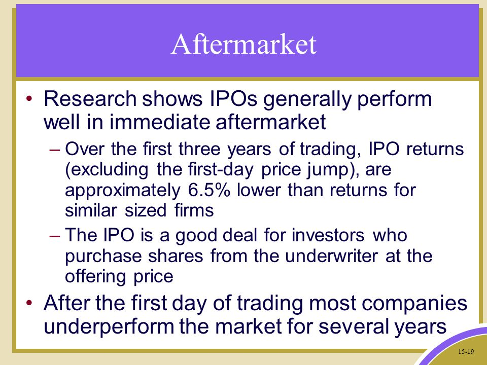 When do options start trading after ipo