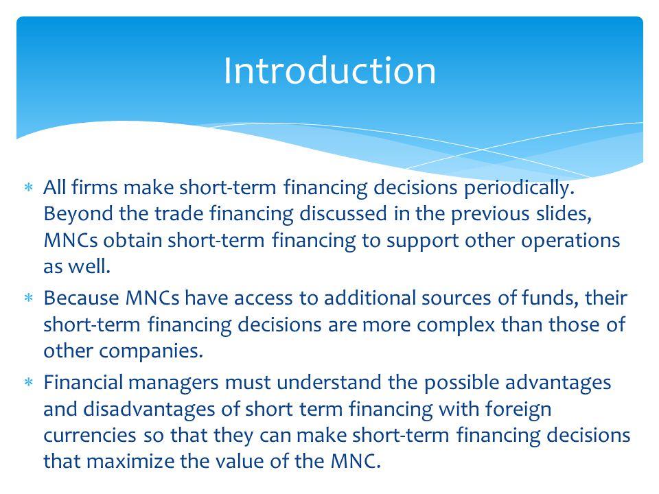 Advantages and disadvantages of mnc