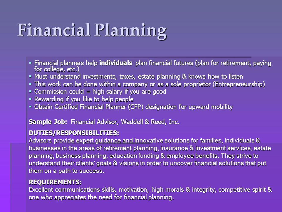 duties of financial advisor