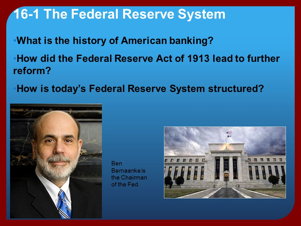 an overview of the federal reserve act of 1913 central banking credit policy For the very first time in its nascent history, the united states established a permanent central banking institution, thanks to the passage of the federal reserve act of 1913 today, this influential central bank – known as the federal reserve – is responsible for guiding the course of the us economy by raising and lowering interest rates.