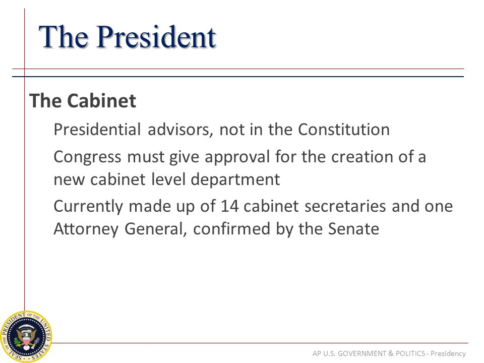 AP U.S. GOVERNMENT & POLITICS - Presidency - ppt download