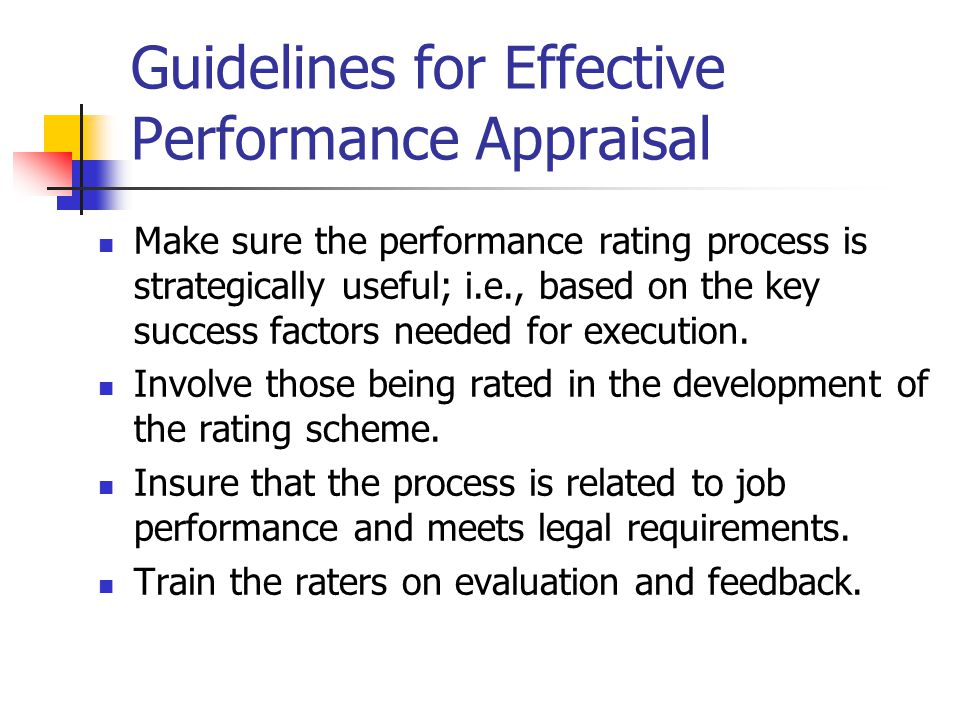 Components of an effective appraisal system