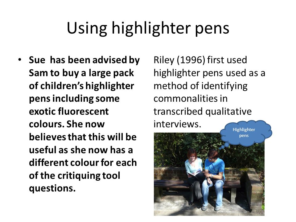 how to interrogate research papers alan glasper and colin rees  6 using highlighter pens