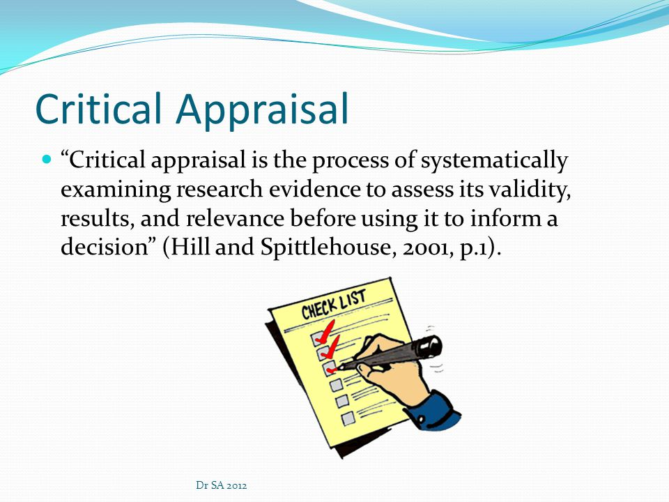 Essay on critical appraisal