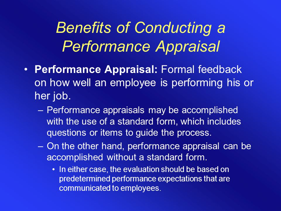 conducting performance appraisals The performance appraisal is part of your responsibility as a leader take the first step towards conducting them better by learning from great leaders.