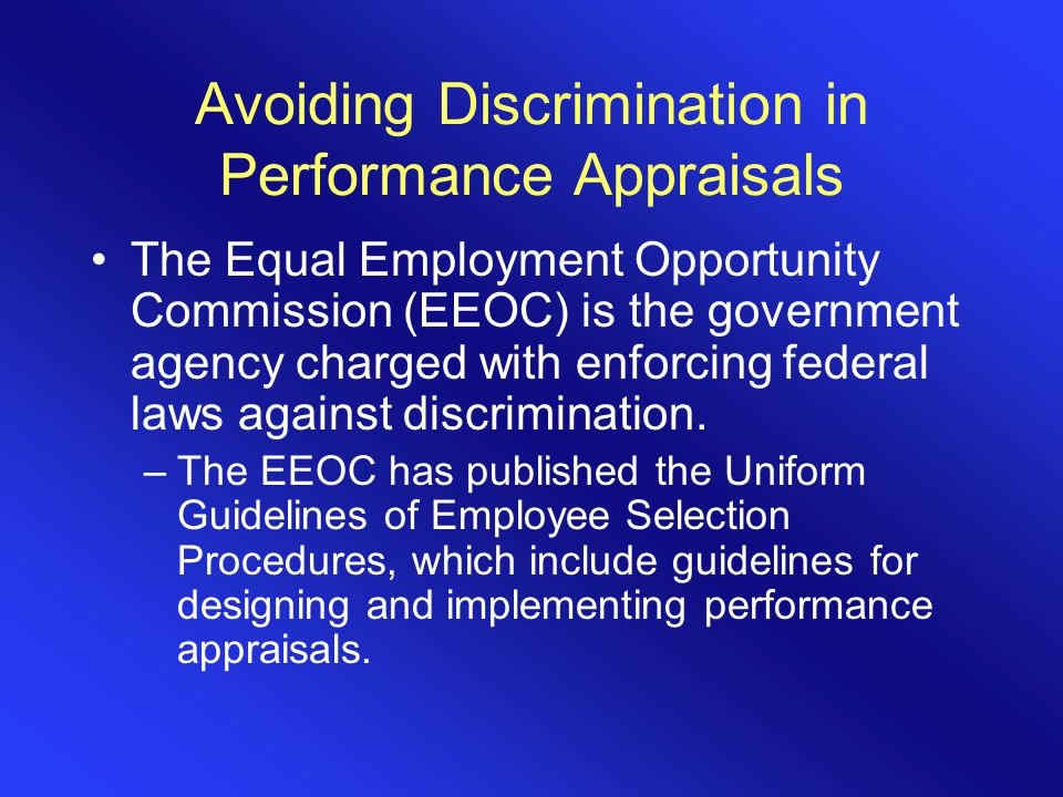 equal opportunities and employees performance essay To put it in simple words, the equal employment opportunities act of 1974 grants employees with equal opportunities to get employment and to have equal working conditions, regardless of their gender, race, origin, age and other factors that may be subjects to discrimination.
