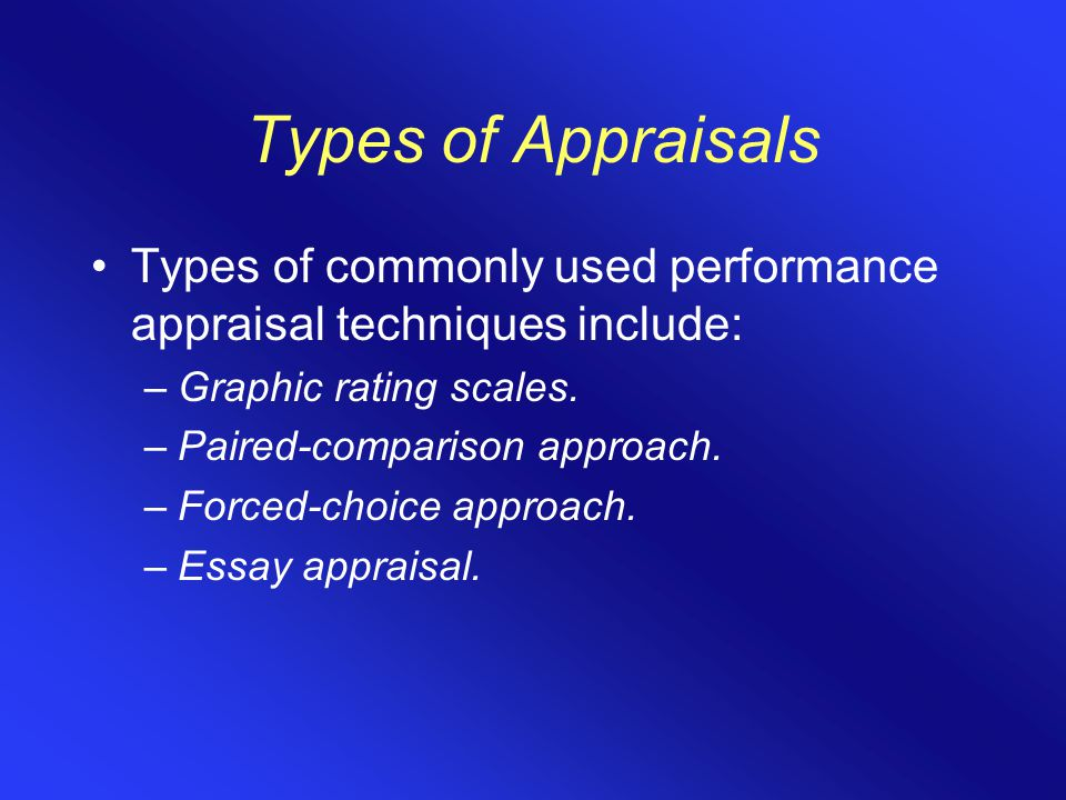 types of performance appraisals A good manager should be objective about the performance of their employees and 5 types of bias in a performance your employee performance appraisals.