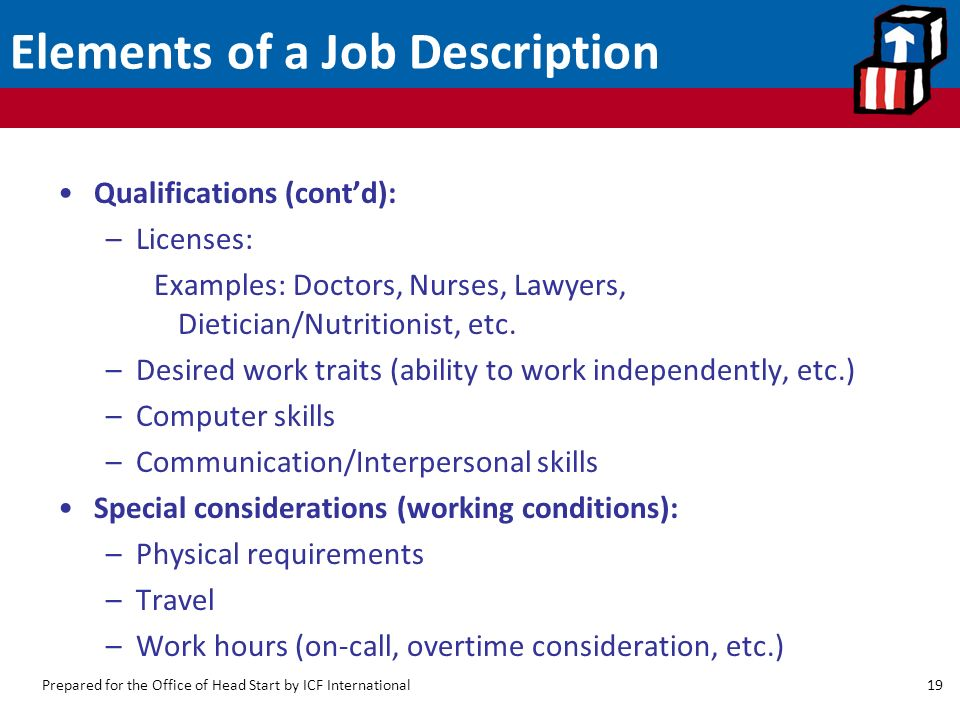 Developing And Keeping Good Employees: Job Descriptions