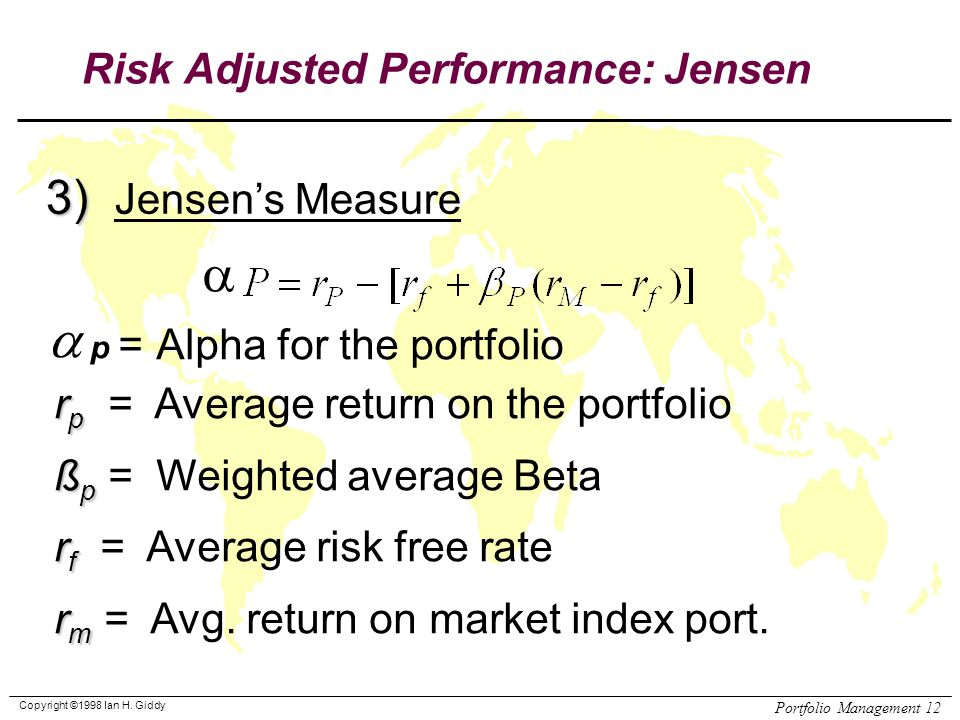 different risk adjusted fund performance measures 'risk-adjusted return' in a nutshell february 3, 2013 over a specific period you can also measure the risk-adjusted return on a fund, a portfolio there are a few different ways to measure risk-adjusted return.