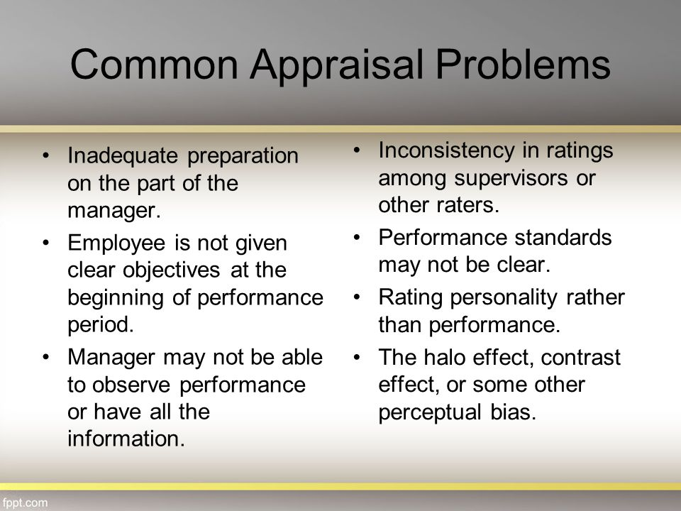 Common Appraisal Problems