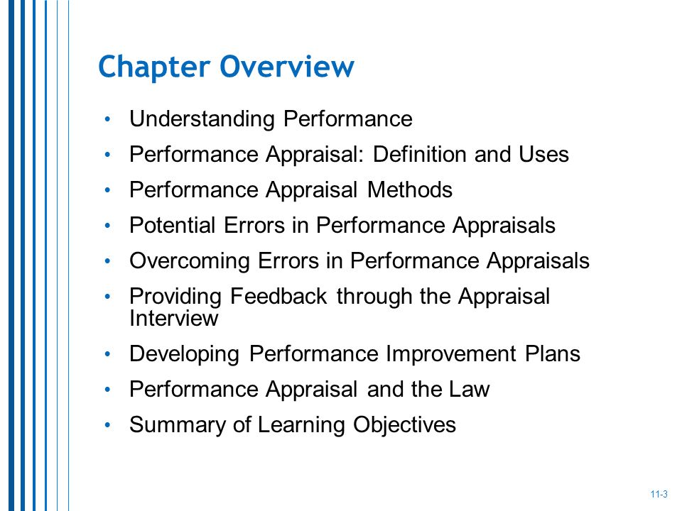Chapter Overview Understanding Performance  Performance Improvement Plan Definition