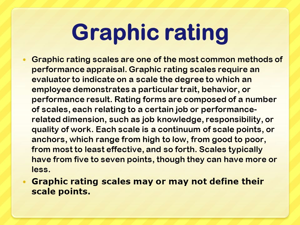 performance appraisal methods graphic rating scale appraisal ppt
