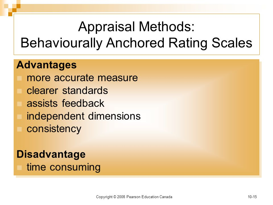 behaviorally anchored rating scales effective and An effective appraisal  months to elicit behavioral anchors, or examples of auditor/  haviorally-anchored rating statements or bars as they are com-.