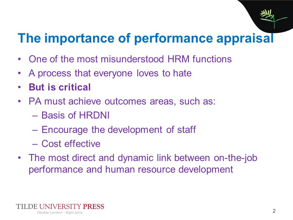 Importance of an Employee's Role in Appraisal