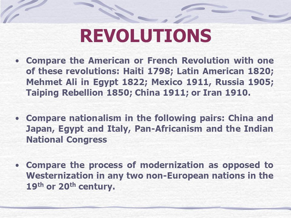 a comparison of the mexican and russian revolutions Analysis sheet for the french and russian revolutions the lower classes under the old regime: france: russia: both: the peasants : over 80% of the population--x: early satisfaction of major demands, then essentially opposed to further revolution: x--mobilization for further revolution-x.