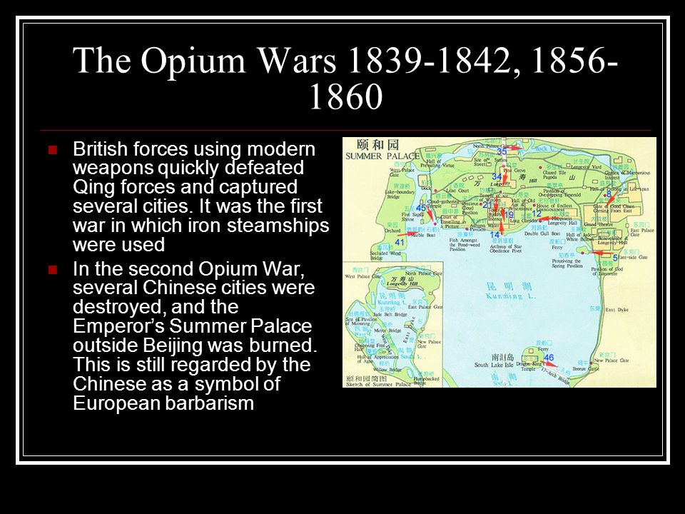 The causes and effects of the opium war in 1839 in china