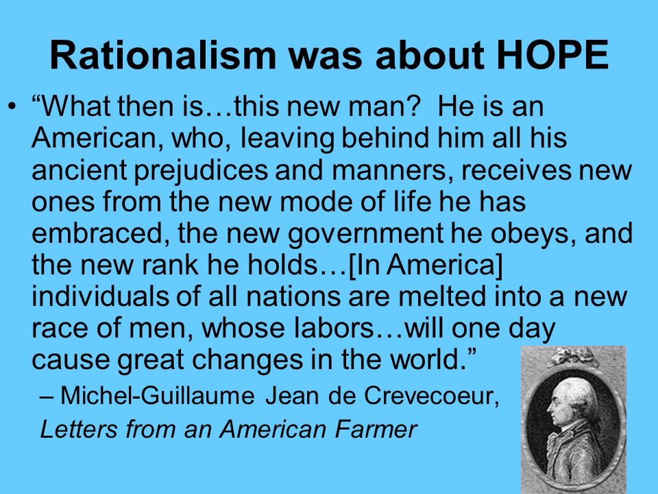Rationalism was about HOPE