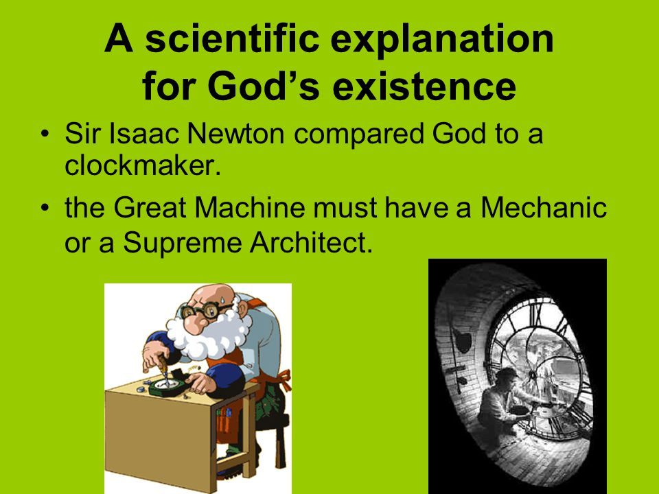 A scientific explanation for God's existence