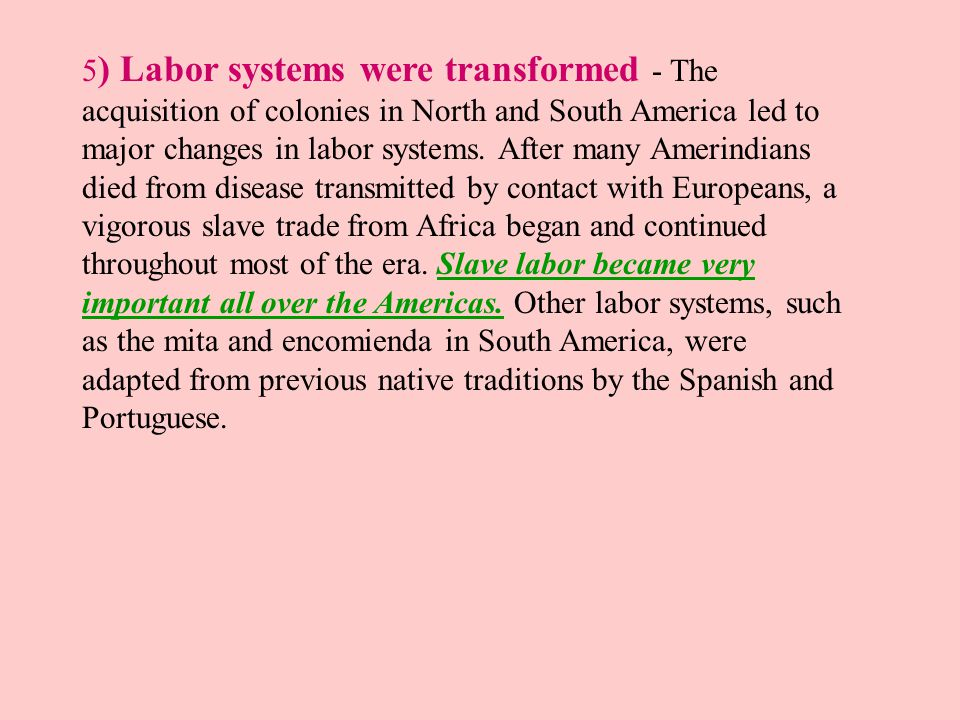 the history of labor systems in the early years in america The role of indentured servitude in the history of the united states of america united states the development of the tobacco economy in the chesapeake colonies led the virginia company to develop a labor system to meet their particular generally in their late teens and early twenties.