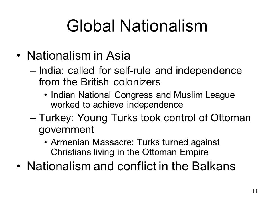 Global Nationalism Nationalism in Asia