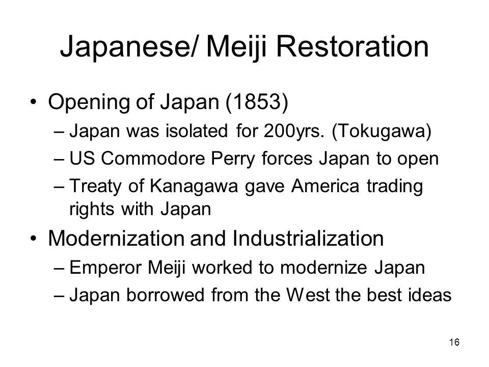 Japanese/ Meiji Restoration