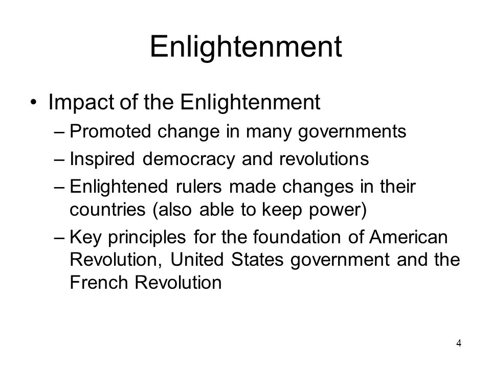 Enlightenment Impact of the Enlightenment