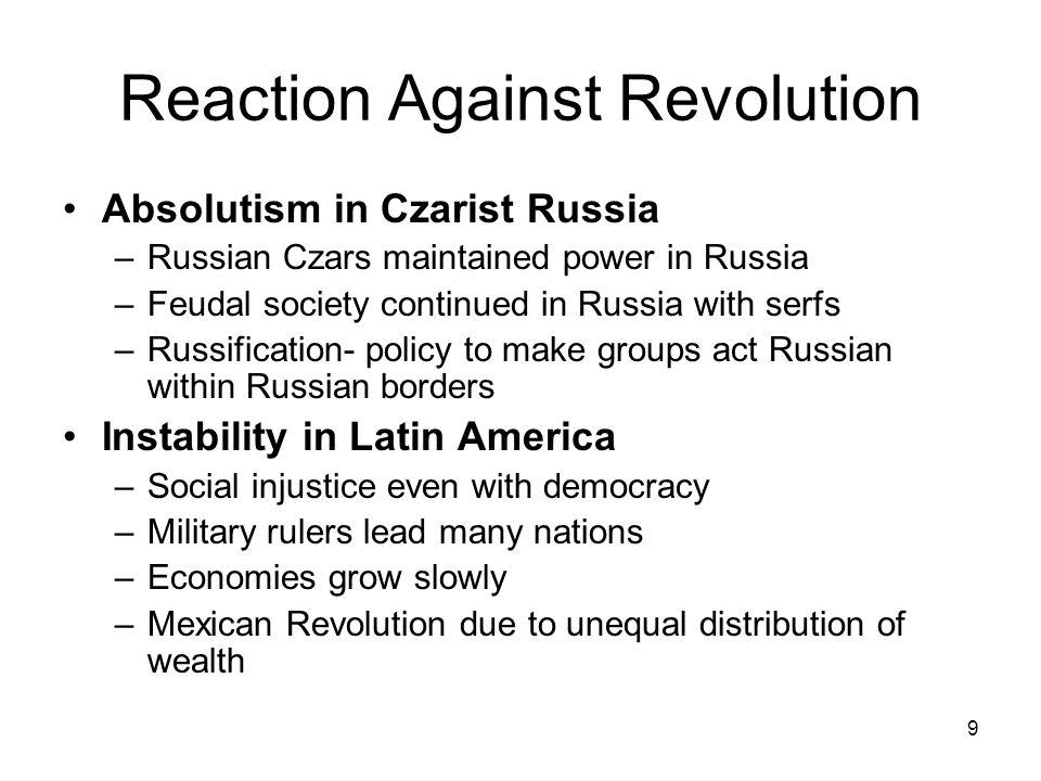 Reaction Against Revolution