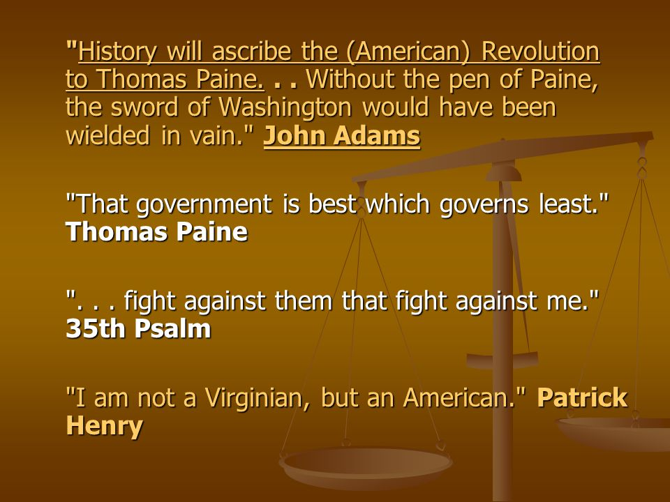 the history of american government and thomas paine Paine's institutional suggestions in common sense are hardly fully fledged  proposals indeed  features of the american form of government  combining  historical narrative of events in france,.