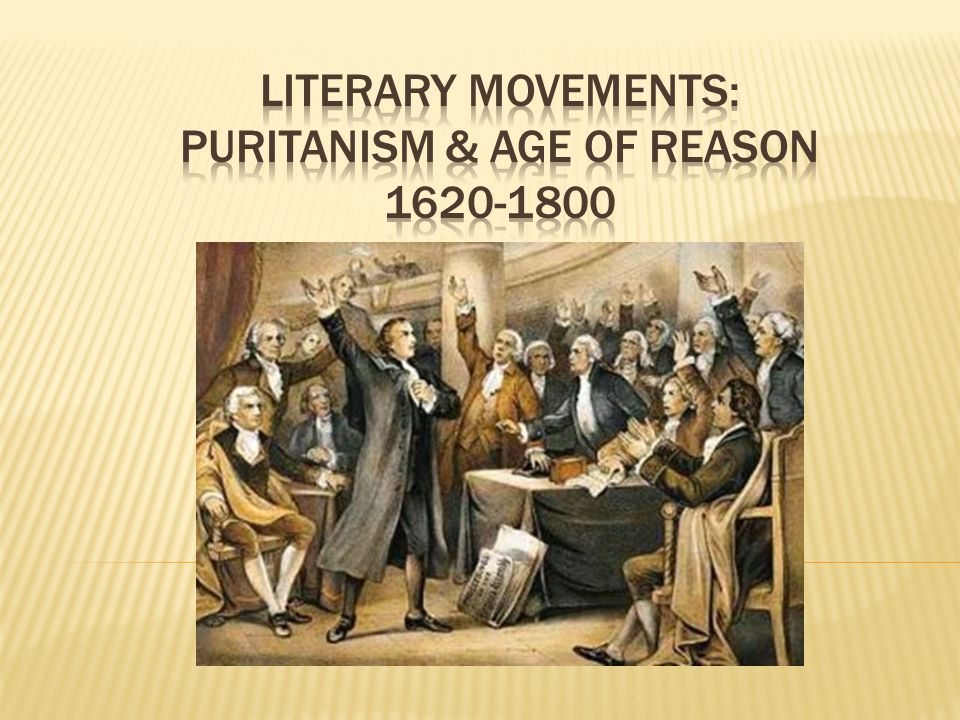 a comparison of the ages of puritanism and reason View notes - comparison-contrast of southern planters and puritans from eh 231 at university of west alabama-livingston comparison of southern planters and puritans.