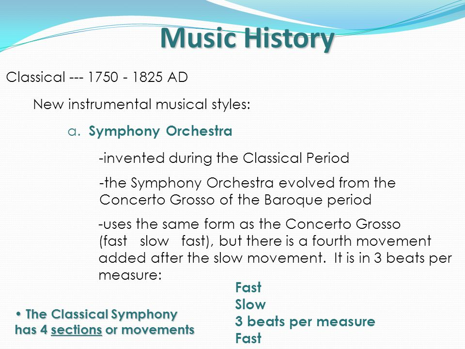 Music History Classical Period 1750 – 1825 AD. - ppt video online ...