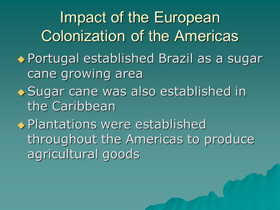 the impact of the caribbean imperialism on europe This statistic represents the economic impact of european imperialism on tanzania's economy in  western imperialism, asia, europe, america] strong essays.