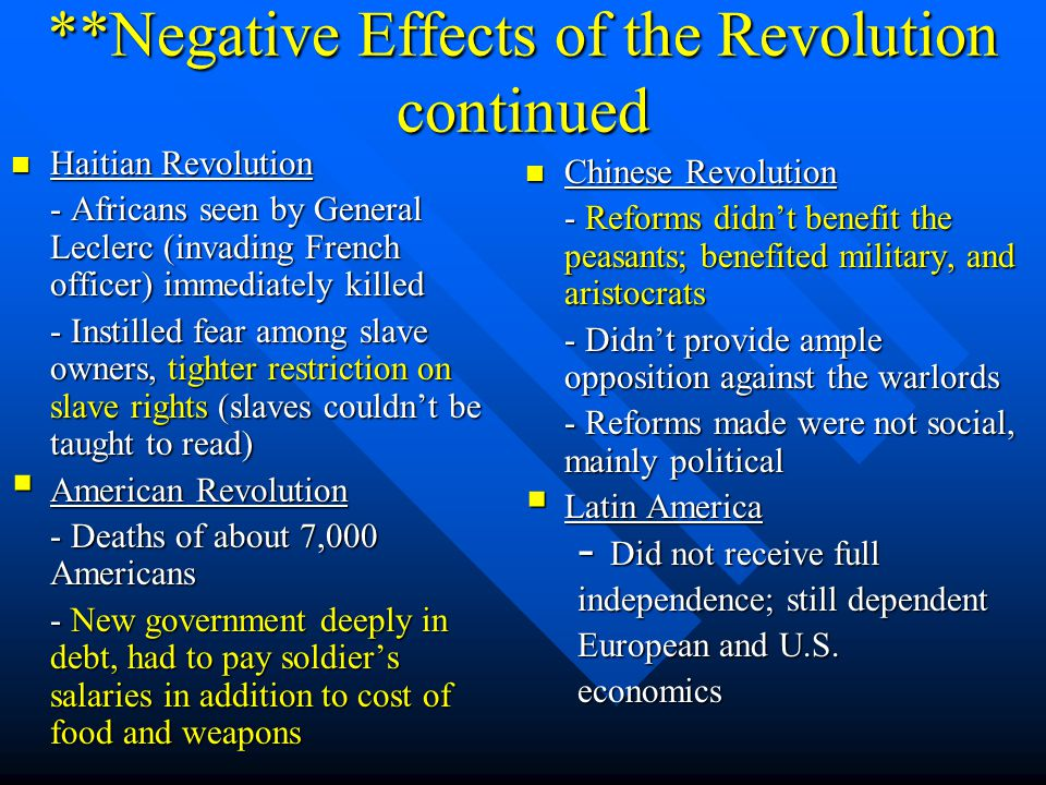 the impact of the haitian revolution These outlaw bands would prove pivotal to the success of the haitian revolution the impact of the french revolution the french revolution was an important precursor to the haitian revolution and .