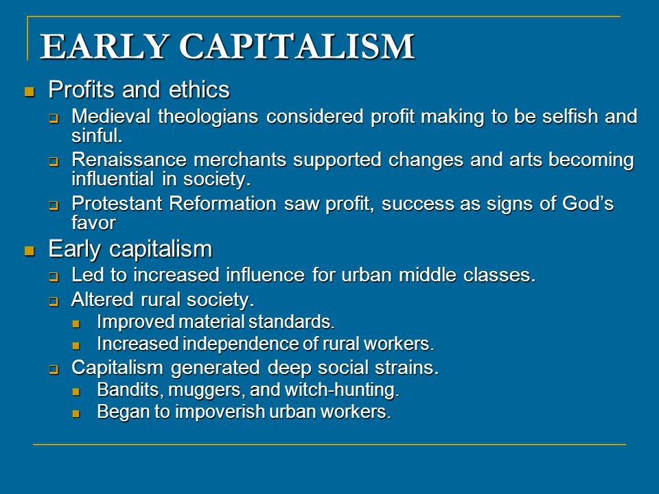 capitalism economy and god Any true definition of capitalism must state that it is purely an economic system,  not  is established in judeo-christian morality by two commandments of god.