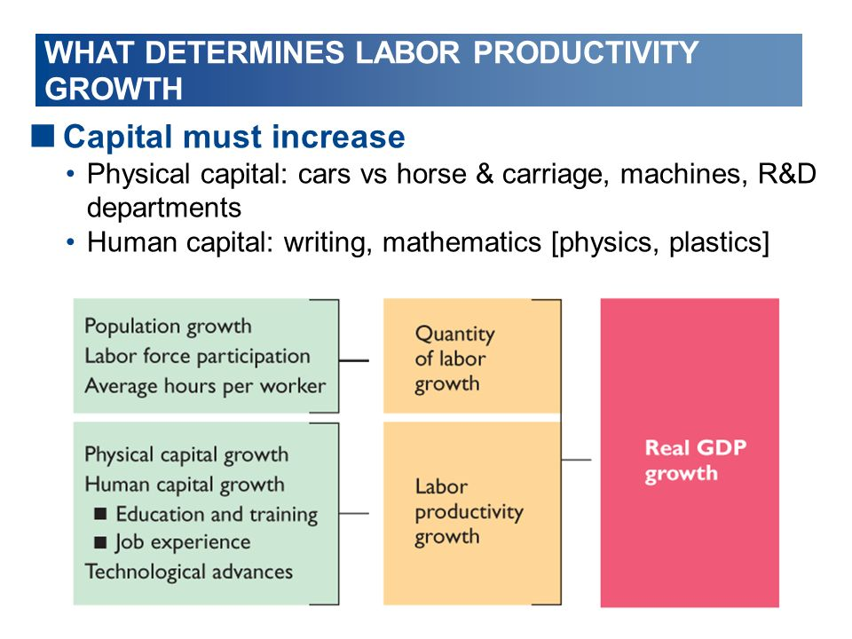 WHAT DETERMINES LABOR PRODUCTIVITY GROWTH