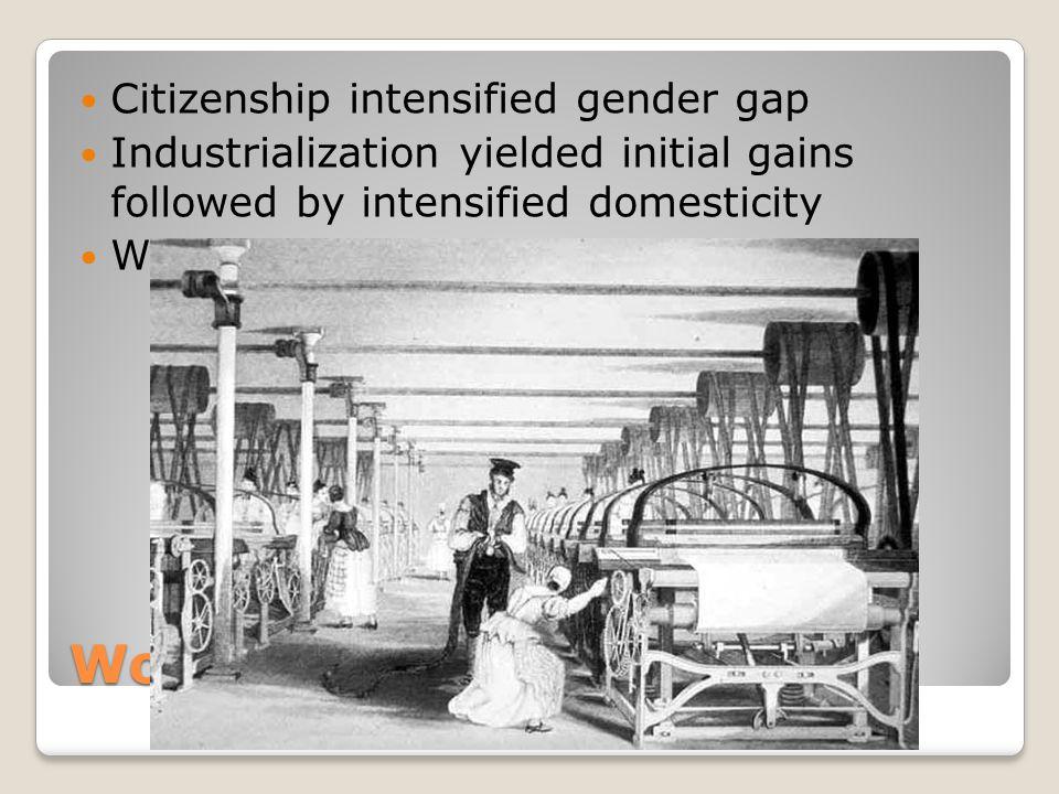 Women in the West Citizenship intensified gender gap