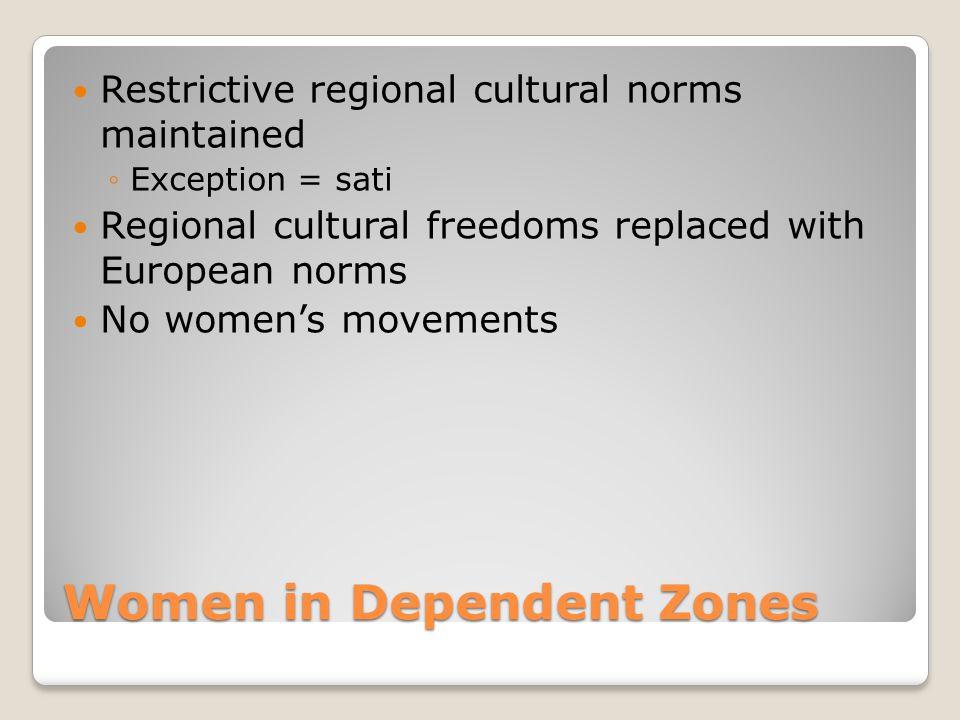 Women in Dependent Zones