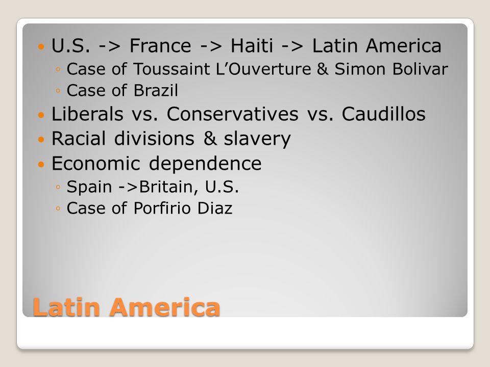 Latin America U.S. -> France -> Haiti -> Latin America
