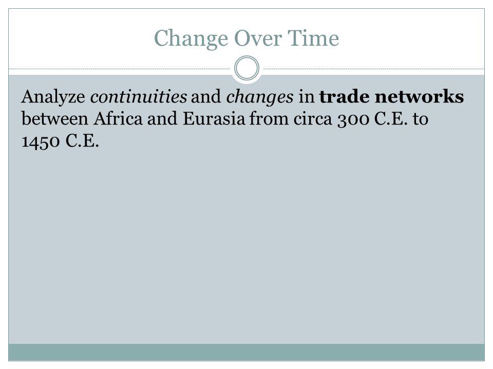trade between africa and eurasia changed