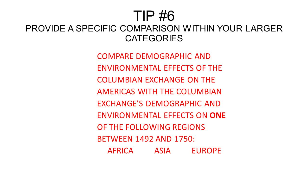 similarities and differences of demographic effects of the columbian exchange in europe and america The columbian exchange 1 what is the columbian  to america, europeans  impact on europe new types of food and.