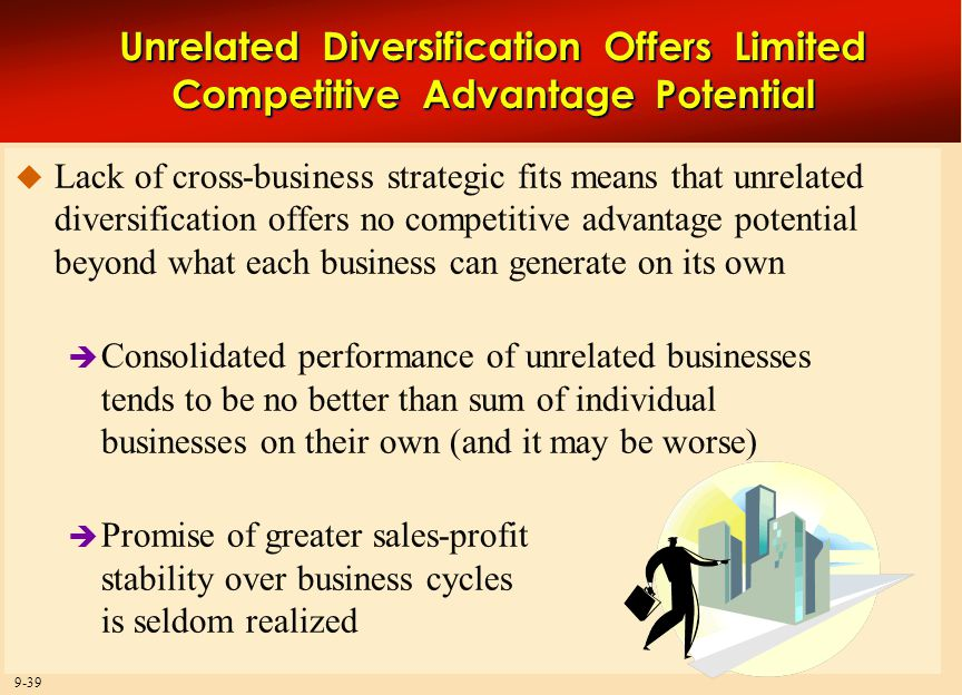 diversification effects on the competitive advantage business essay Bidvest is a south africa-based distribution services and trading business and  to gain competitive advantage  essay sample on bidvest corporate strategy.