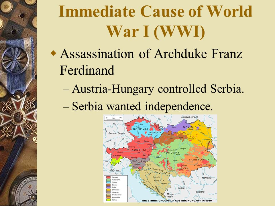 Immediate Cause of World War I (WWI)