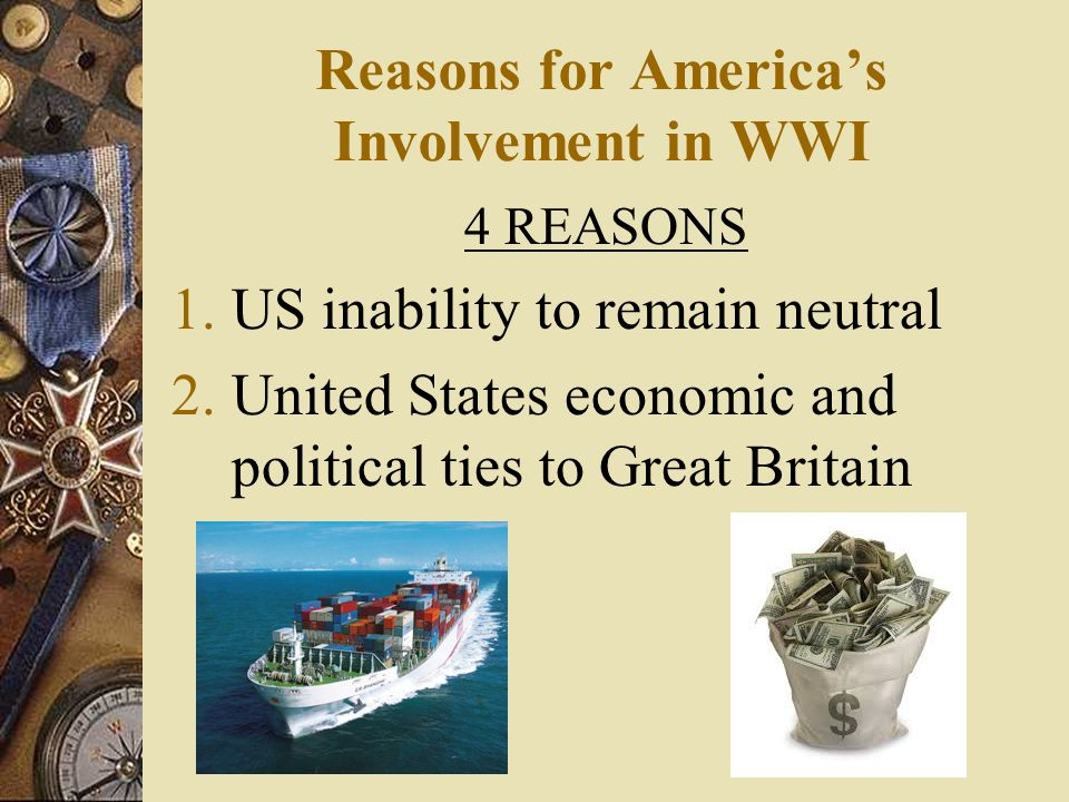 Reasons for America's Involvement in WWI