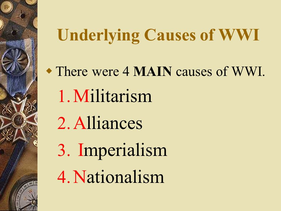 the two main causes of world Top 5 causes of world war 2 1 totalitarianism throughout europe  religion had nothing to do with world war two unless you mean the atheist religion of .