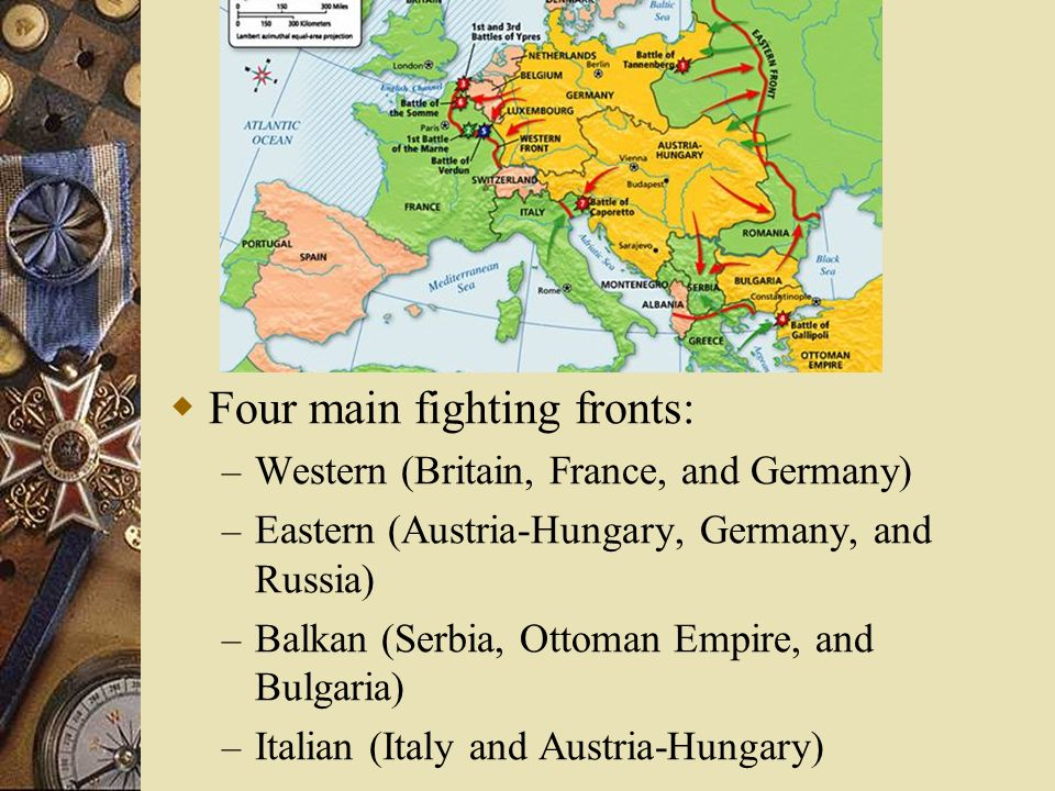 Four main fighting fronts: