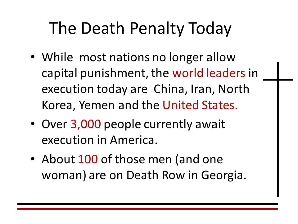 An introduction to the capital punishment in the united states of america