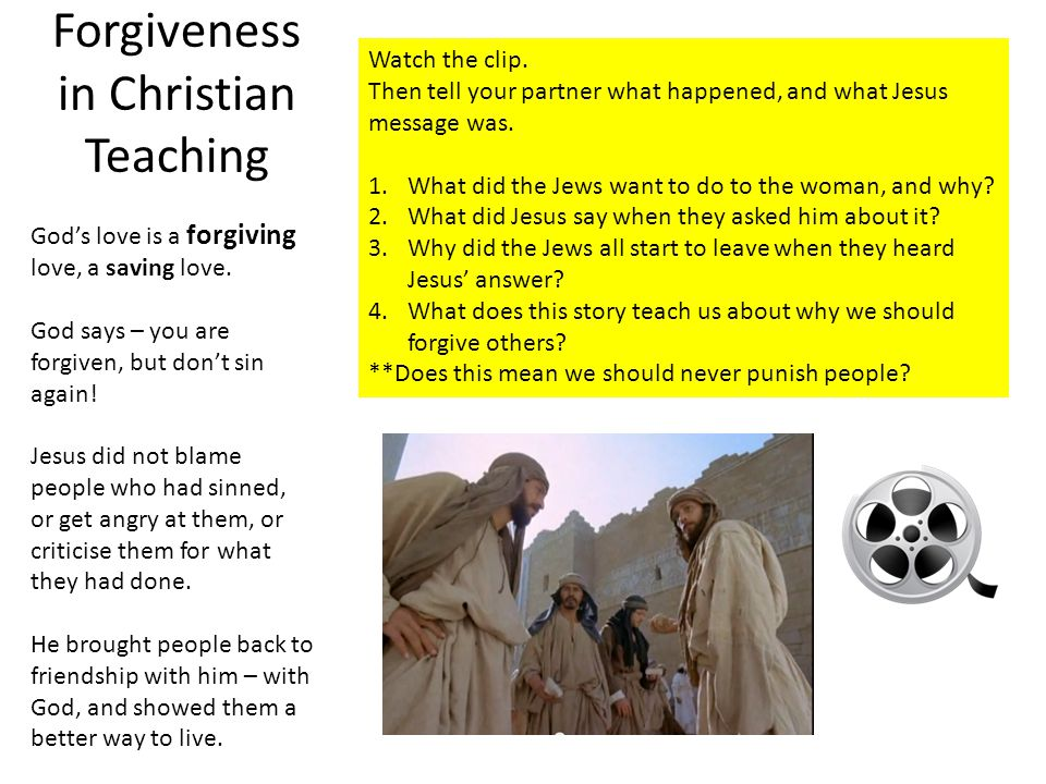 does jesus forgive